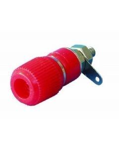 POISTO OMNITRONIC Banana plug chassis mount red