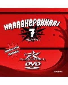 KARAOKEPOKKARI Vol 7 DVD karaoke Poppia 1 levyllä