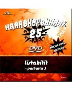 KARAOKEPOKKARI Vol 25 DVD Listahitit 3 karaoke DVD