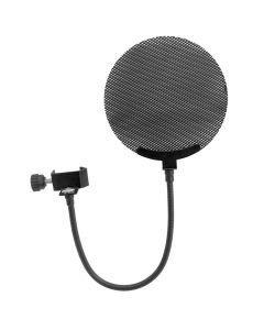 OMNITRONIC Pop-filtteri mikrofonille, metallia