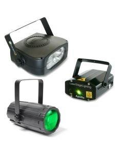 BEAMZ Disco valopaketti-4 Väriä laser Flower