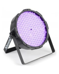 BEAMZ LED FLAT-PAR UV 186x 10mm DMX mustavalo