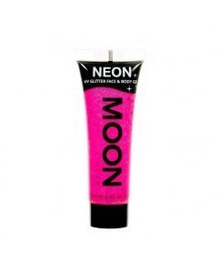 MOONGLOW UV Glitter HOT PINK kasvoille vartalolle