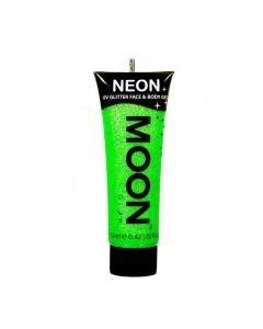 MOONGLOW UV Glitter vihreä kasvoille vartalolle