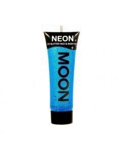 MOONGLOW UV Glitter sininen kasvoille vartalolle