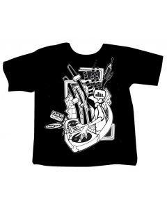 DAP-AUDIO MIXING DJ T-paita musta, koko L