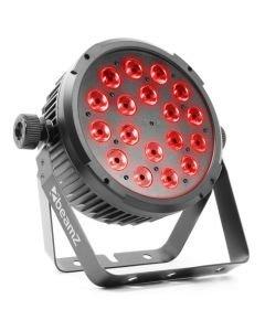 BEAMZ BT320 LED FLAT-PAR Spotti 18x6W RGBW 14