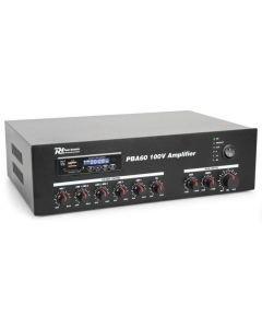 POWERDYNAMICS PBA60 60W-100V vahvistin MP3