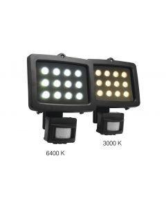 EUROLITE FL-12 3000K 40 12x1W MD LED-valonheitin ulkovalo