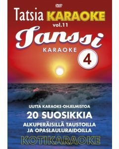TATSIA Kotikaraoke Vol 11 Tanssi 4-DVD levyllä mm