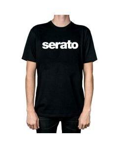 SERATO T-paita musta, koko L erittäin tyylikäs