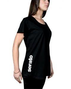 SERATO T-paita naisten musta, koko S erittäin