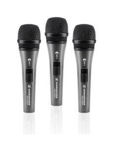 SENNHEISER e835-S 3Pack mikrofoni setti Dynaaminen