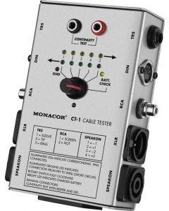 MONACOR CT-1 Kaapelitesteri showtekniseen