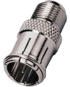 MONACOR FCH-17, Adapter screw-on F jack/slide-on F