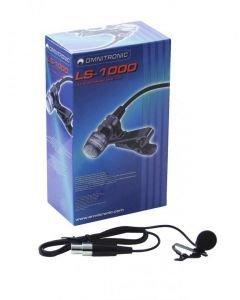OMNITRONIC LS-1000 kravattimikrofoni, joka on