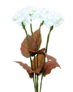 EUROPALMS 80cm Neljä hortensiaa LEDeillä