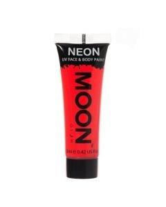 MOONGLOW PUNAINEN UV Neon kasvo sekä vartalomaali
