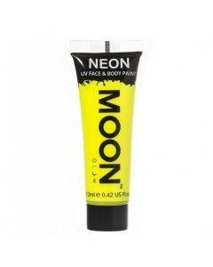 MOONGLOW KELTAINEN UV Neon kasvo sekä