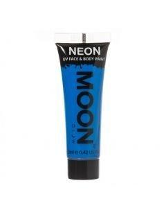 MOONGLOW SININEN UV Neon kasvo sekä vartalomaali