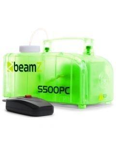 BEAMZ S500PC Läpinäkyvä muovinen savukone 2x 3W LED