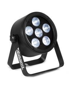 BEAMZ Pro BAC300 LED-valaisin 6x 8W RGBW-värit 4in1 alumiinikuorilla
