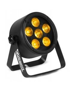 BEAMZ Pro BAC302 LED-valaisin 6x 12W RGBAWUV-värit 6in1 alumiinikuorilla