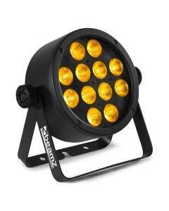 BEAMZ Pro BAC306 LED-valaisin 12x 12W RGBAWUV-värit 6in1 alumiinikuorilla