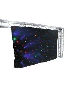 EUROLITE CRT-120 LED-efektiverho 3 x 2m tähtitaivas DMX RGB+ Y