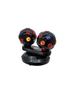 EUROLITE Mini Double Ball 2x230V/15W DR discovalo efekti diskovalo