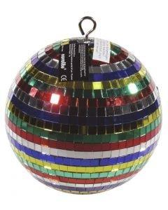 EUROLITE Multicolor mirror ball 20 cm colorbox