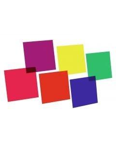 EUROLITE Värikalvosetti 24x24cm kuusi väriä
