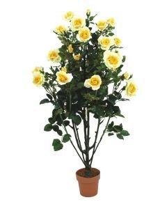EUROPALMS 140cm Ruusupensas kukat vaaleankeltaiset