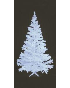 EUROPALMS 180cm Klassinen kuusi UV-aktiivinen valkoinen
