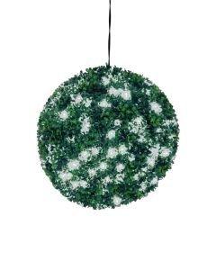 EUROPALMS 40cm Puksipuupallo valkoisilla LEDeillä