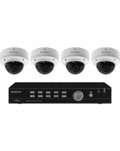 MONACOR AXC-408DVM Hybridi kameravalvontajärjestelmä