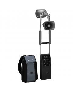 PAS-250D siirrettävä akkukäyttöinen äänentoistojärjestelmä reppuversiona