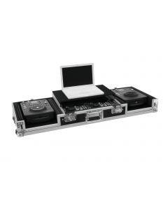 roadinger-kuljetuslaatikko-laptop-telineella cd- mikseri 19 tuumaa
