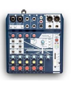 Soundcraft Notepad-8FX - pienikokoinen analogimikseri USB-audioväylällä ja aidoilla Lexicon-efekteillä