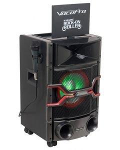 vocopro-karaoke-rock-on-roller-on karaoke setti näytöllä