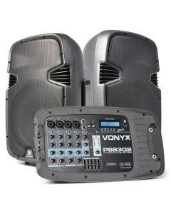 VONYX PSS-302 Siirrettävä kaiutinjärjestelmä SD/USB/MP3/BT