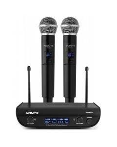VONYX WM82 Digital UHF langaton mikrofonijärjestelmä kahdella mikrofonilla