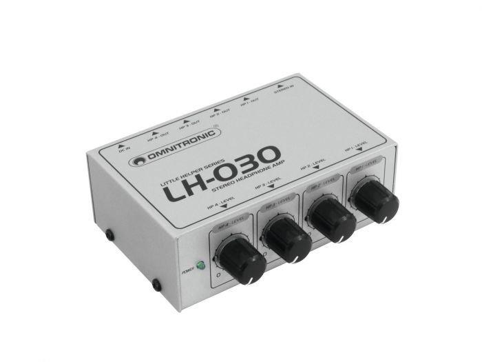 OMNITRONIC LH-030 Kuulokevahvistin-splitteri 4kpl