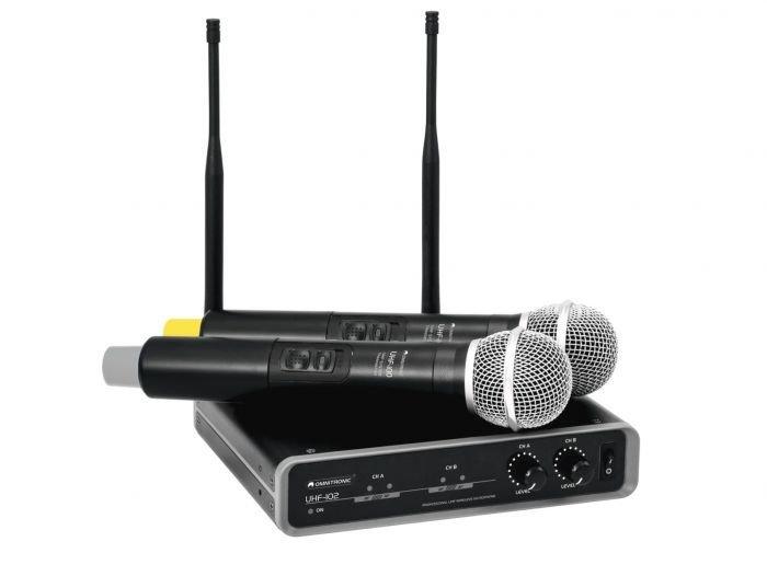 OMNITRONIC UHF-102 B-STOCK Langaton tuplamikrofoni