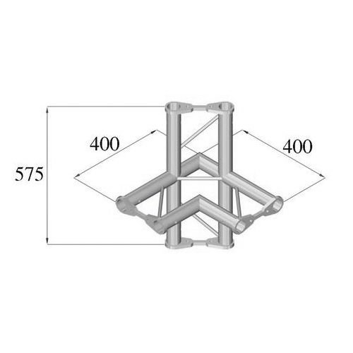 ALUTRUSS BISYSTEM 4-tie kulmapala PH-44 horizontal