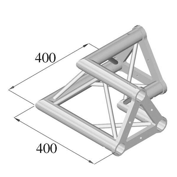 ALUTRUSS TRISYSTEM 2-tie kulmapala 90 PAC-21 50mm