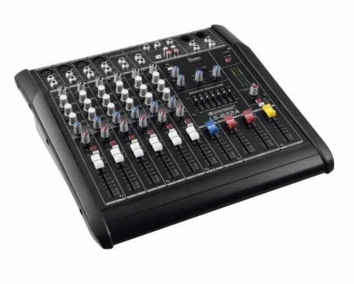 OMNITRONIC LS-822A Mikserivahvistin 2x200W