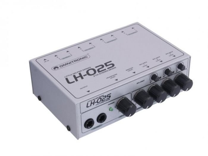 OMNITRONIC LH-025 Mini mikseri kolma stereo