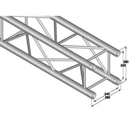 ALUTRUSS QUADLOCK QL-ET34-2500 4-way cross beam