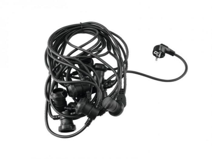 EUROLITE BLN-10 E-27 IP44 Tivolivalo ketju kymmenelle lampulle - 10 metriä - sisä ja ulkokäyttöön